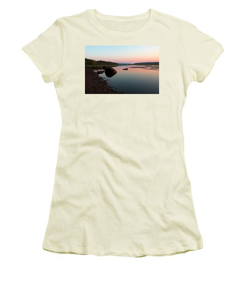 Peaceful Morning On The Hudson Women's T-Shirt (Athletic Fit)