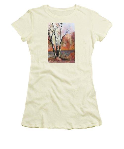 Peaceful River Women's T-Shirt (Junior Cut) by Annette Berglund