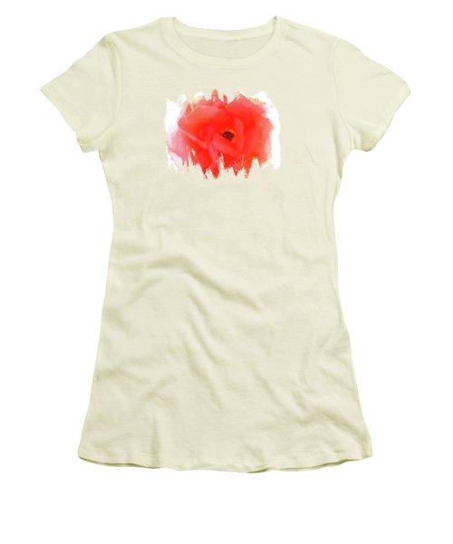 Peachy Keen Women's T-Shirt (Junior Cut) by Anita Faye
