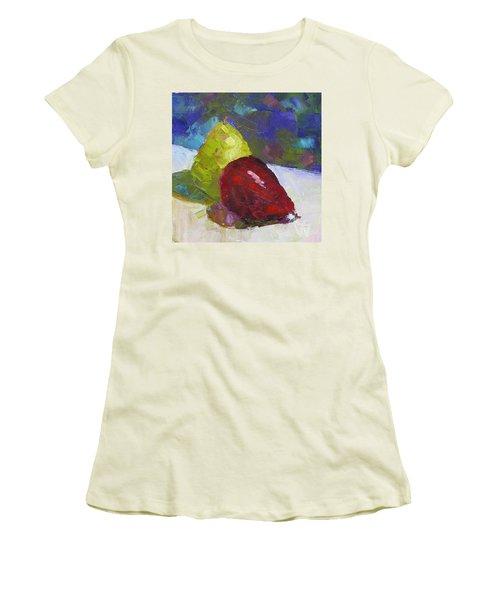 Pear Pair Women's T-Shirt (Junior Cut) by Susan Woodward