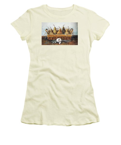Pears Women's T-Shirt (Junior Cut) by Mikhail Zarovny
