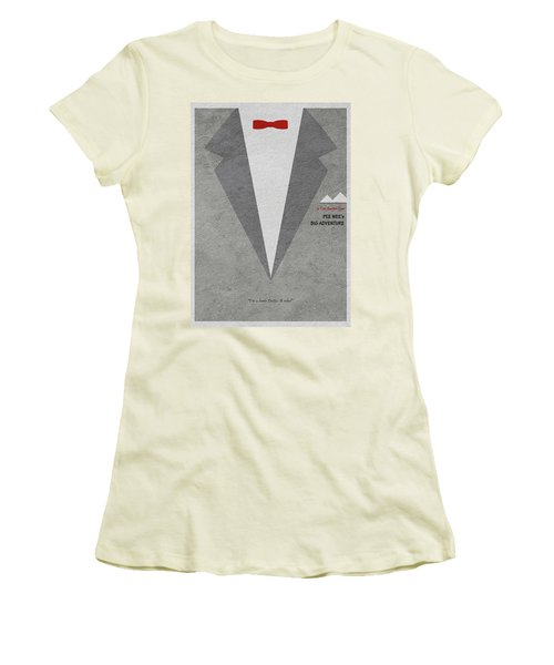 Women's T-Shirt (Junior Cut) featuring the digital art Pee-wee's Big Adventure by Ayse Deniz