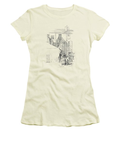 Peel Back Street Women's T-Shirt (Athletic Fit)