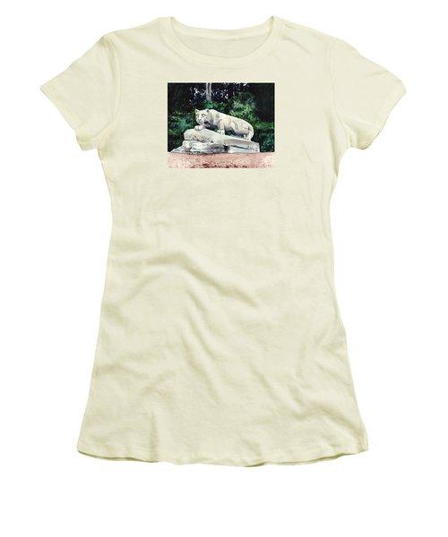 Penn State Nittany Lion Shrine University Happy Valley Joe Paterno Women's T-Shirt (Athletic Fit)