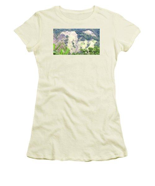 Penuelas, Puerto Rico Mountains Women's T-Shirt (Athletic Fit)
