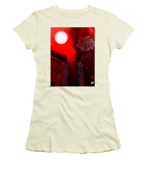 Perigee Moon 2 Women's T-Shirt (Junior Cut) by Yul Olaivar