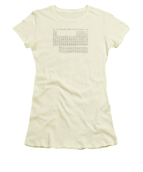 Periodic Table Of The Elements Women's T-Shirt (Junior Cut) by Design Turnpike
