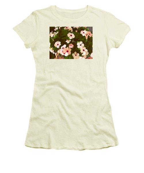 Periwinkle Women's T-Shirt (Junior Cut) by David Blank