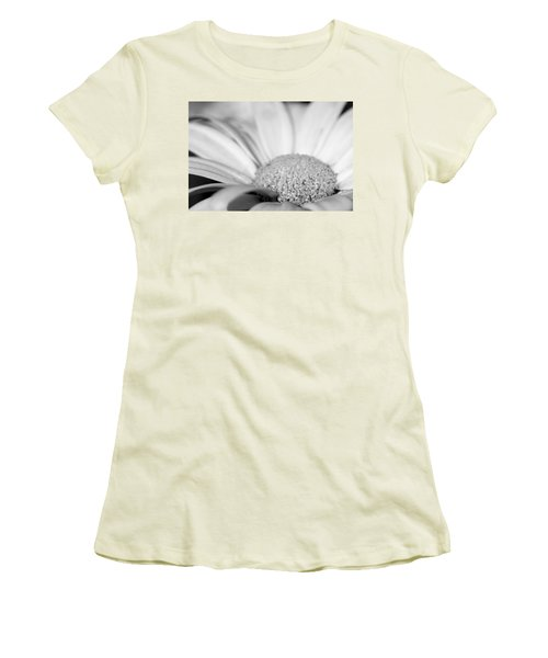 Petals - Black And White Women's T-Shirt (Junior Cut) by Angela Rath