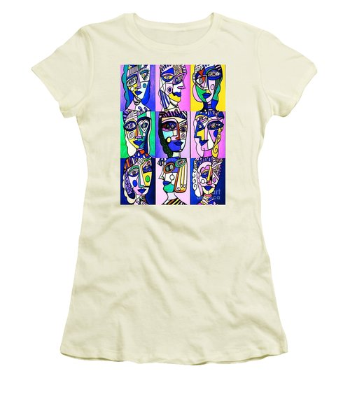 Picasso Blue Women Women's T-Shirt (Athletic Fit)