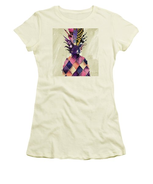 Pineapple Brocade II Women's T-Shirt (Athletic Fit)