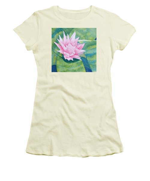 Pink Bromiliad Women's T-Shirt (Athletic Fit)