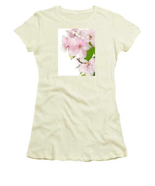 Pink Crabapple Blissoms Women's T-Shirt (Junior Cut) by David Perry Lawrence
