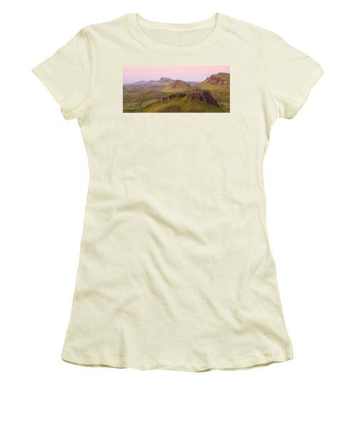 Pink Skye  Women's T-Shirt (Athletic Fit)