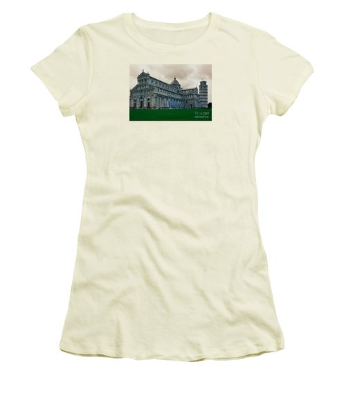 Pisa Women's T-Shirt (Junior Cut) by Ramona Matei