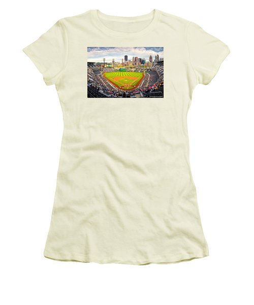 Pittsburgh Pirates  Women's T-Shirt (Junior Cut) by Emmanuel Panagiotakis
