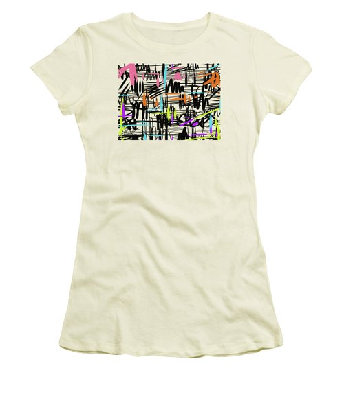Playful Scribbles Women's T-Shirt (Junior Cut) by Go Van Kampen