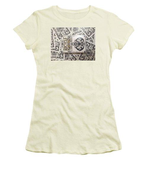 Playing Cards Women's T-Shirt (Junior Cut) by Sheila Mcdonald