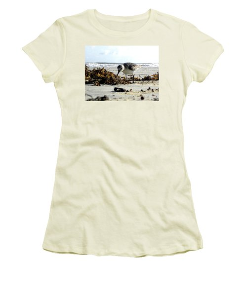 Plover On Daytona Beach Women's T-Shirt (Athletic Fit)