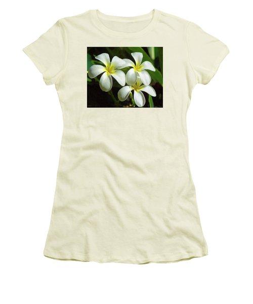 Plumeria Trio Women's T-Shirt (Athletic Fit)