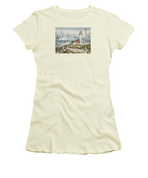 Point Wilson Lighthouse Women's T-Shirt (Junior Cut) by James Williamson