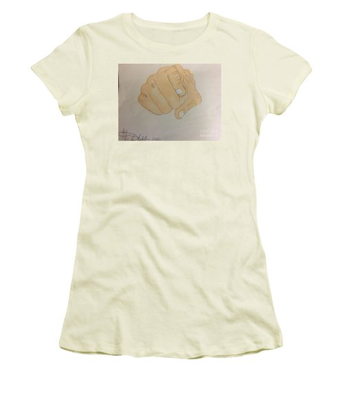 Pointing Finger Women's T-Shirt (Athletic Fit)