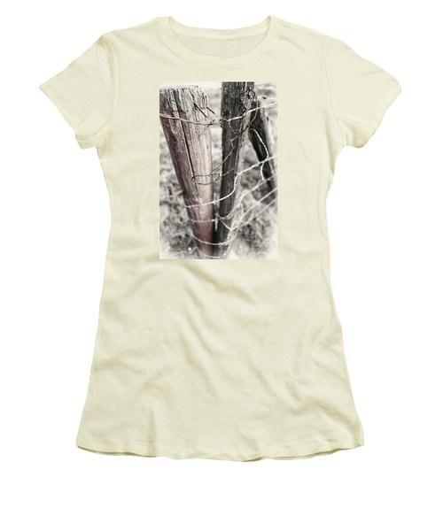 Points And Posts Women's T-Shirt (Junior Cut) by Caitlyn  Grasso