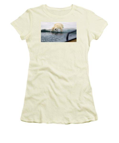 Polar Bear Says 'huh' Women's T-Shirt (Athletic Fit)