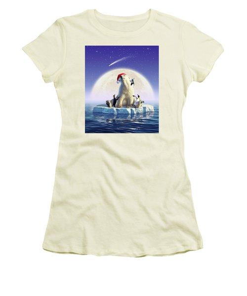 Polar Season Greetings Women's T-Shirt (Athletic Fit)