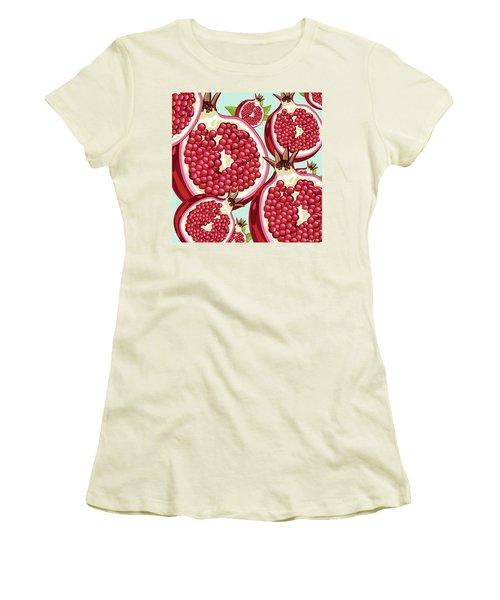 Pomegranate   Women's T-Shirt (Junior Cut) by Mark Ashkenazi