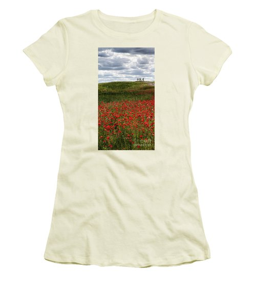 Poppy Field Women's T-Shirt (Athletic Fit)