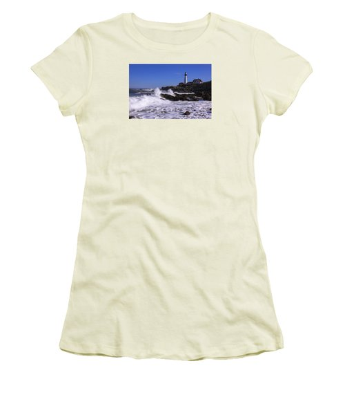 Portland Head Light I Women's T-Shirt (Athletic Fit)