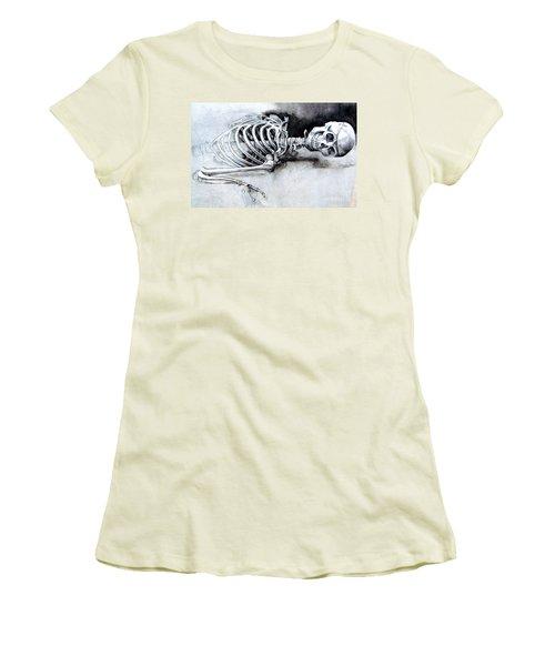 Portrait Of A Skeleton Women's T-Shirt (Athletic Fit)