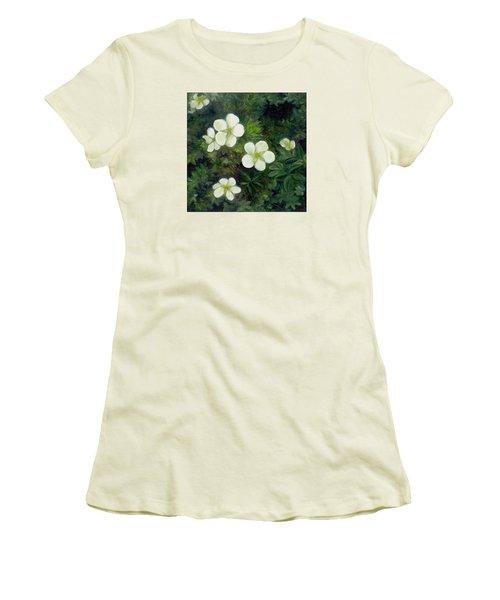 Potentilla Women's T-Shirt (Junior Cut) by FT McKinstry