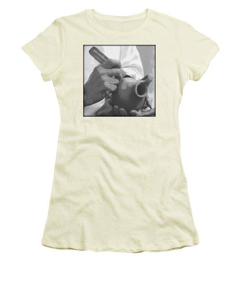 Women's T-Shirt (Junior Cut) featuring the photograph Pottery by Tammy Schneider