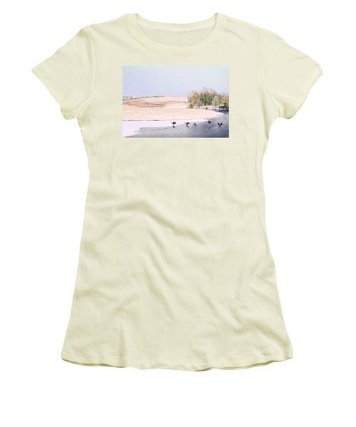Powell Gardens In Winter Women's T-Shirt (Athletic Fit)