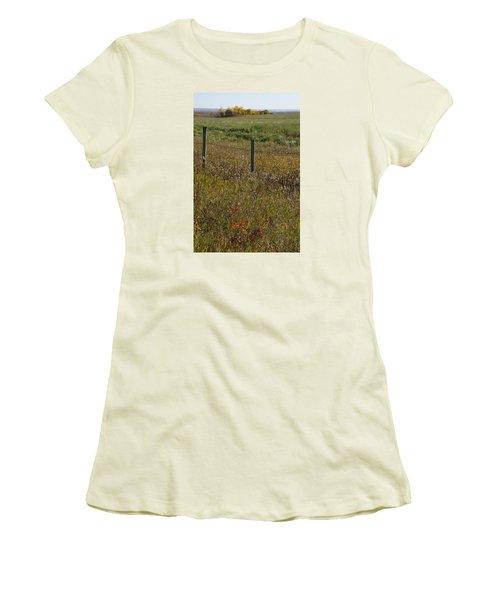 Prairie Autumn Women's T-Shirt (Junior Cut) by Ellery Russell