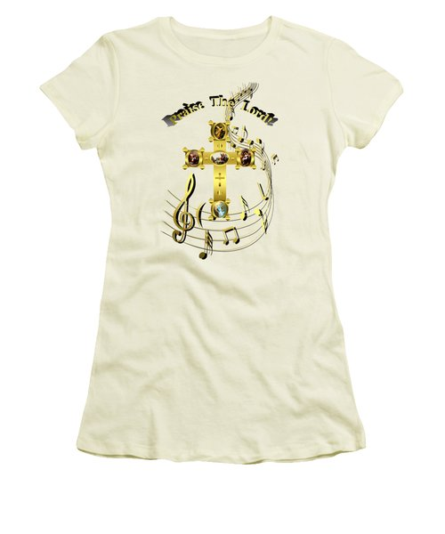 Women's T-Shirt (Athletic Fit) featuring the digital art Praise The Lord by Robert G Kernodle
