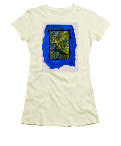 Praying Mantis Silhouette Women's T-Shirt (Athletic Fit)