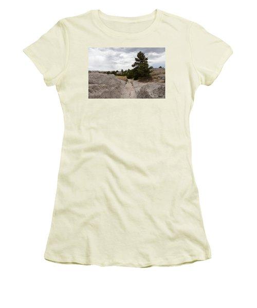 Preserved Wagon Ruts Of The Oregon Trail On The North Platte River Women's T-Shirt (Junior Cut) by Carol M Highsmith