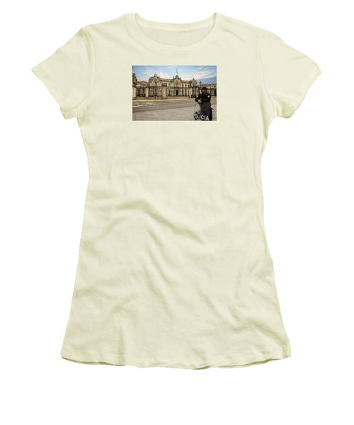 Presidential Palace In Lima Women's T-Shirt (Athletic Fit)