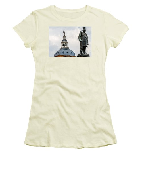 Women's T-Shirt (Junior Cut) featuring the photograph Pretoria Church Square by Steven Richman