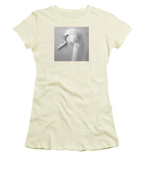 Women's T-Shirt (Junior Cut) featuring the painting Purity Bw by Rose-Maries Pictures