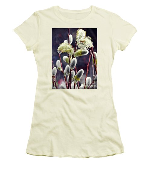 Pussy Willow Spring  Women's T-Shirt (Athletic Fit)
