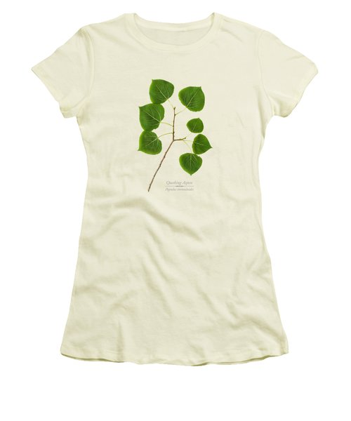 Women's T-Shirt (Junior Cut) featuring the photograph Quaking Aspen by Christina Rollo