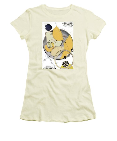 Women's T-Shirt (Junior Cut) featuring the painting Quantom Physics by Michal Mitak Mahgerefteh