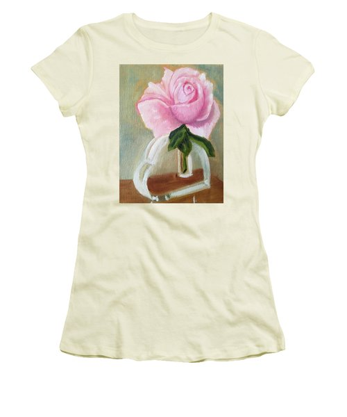 Women's T-Shirt (Junior Cut) featuring the painting Queen Elizabeth by Sharon Schultz