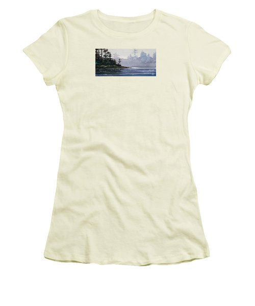 Quiet Shore Women's T-Shirt (Junior Cut) by James Williamson
