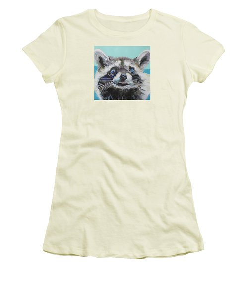 Racoon Women's T-Shirt (Junior Cut) by Jamie Downs