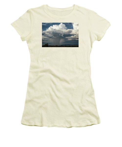Women's T-Shirt (Athletic Fit) featuring the photograph Rain, Beautiful Rain  by Saija Lehtonen